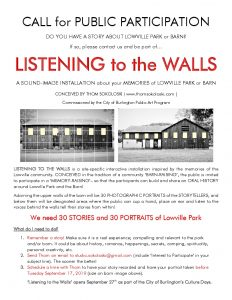 Lowville Park Listening to the Walls event