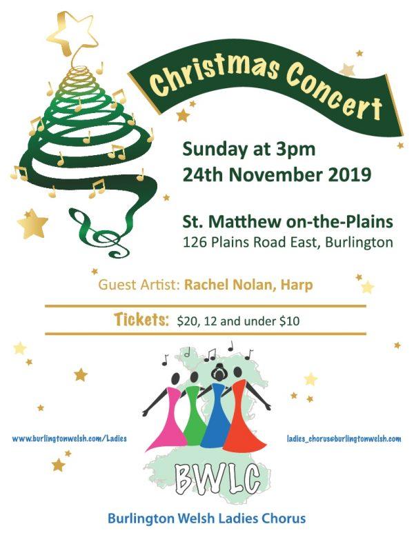 Burlington Welsh Ladies Chorus Christmas Concert poster