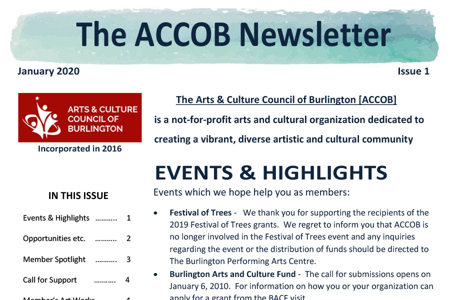 ACCOB Newsletter January 2020