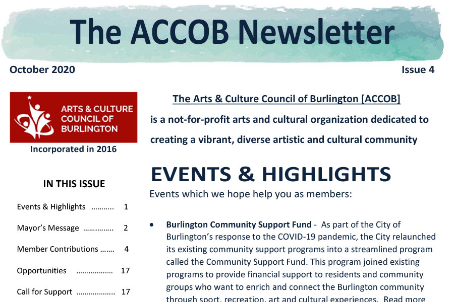ACCOB Newsletter October 2020